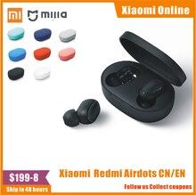 Auf Lager 100% Original Xiaomi Redmi Airdots TWS Bluetooth Kopfhörer Stereo bass BT 5,0 Eeadphones Mic Freihändiger Ohrhörer AI Control