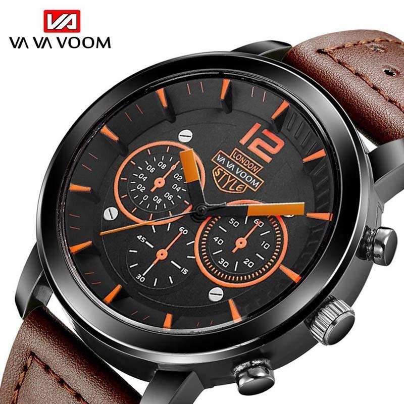 Мужские деловые повседневные спортивные часы Quartz Watch Life Водонепроницаемый кожаным ремешком модные наручные часы, мужские часы, наручные ча... наручные часы kitch watch k 269