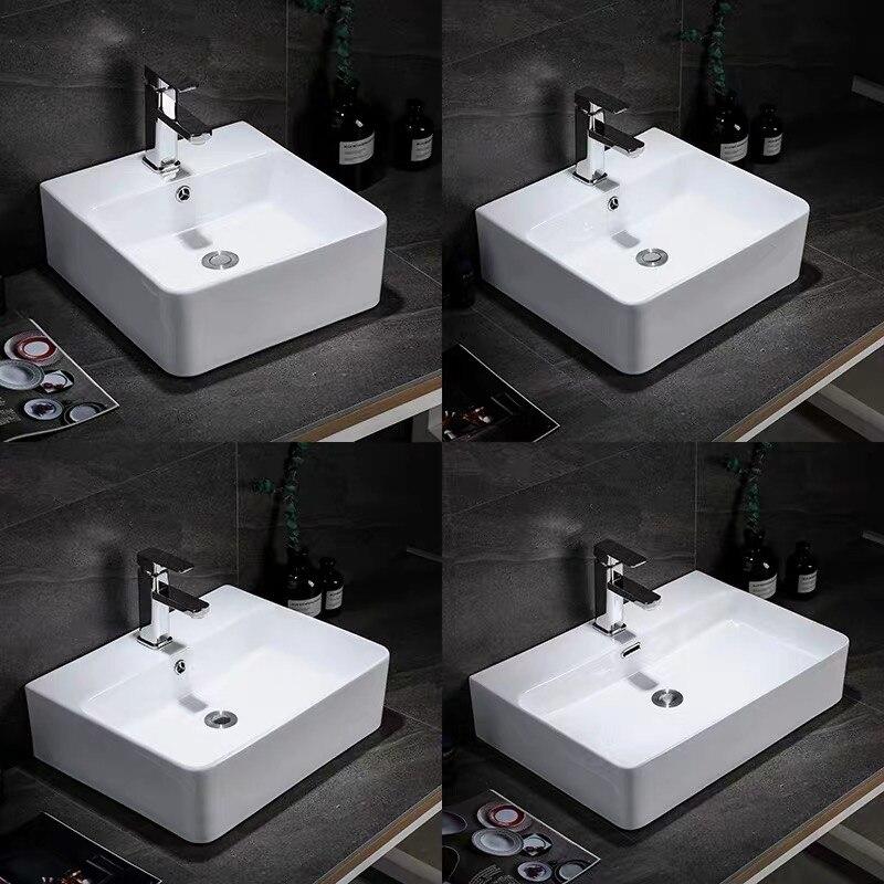 AQJ أفضل بيع الحديثة نمط الحمام الراقية الديكور مربع السيراميك الفن أحواض غسل حوض يد