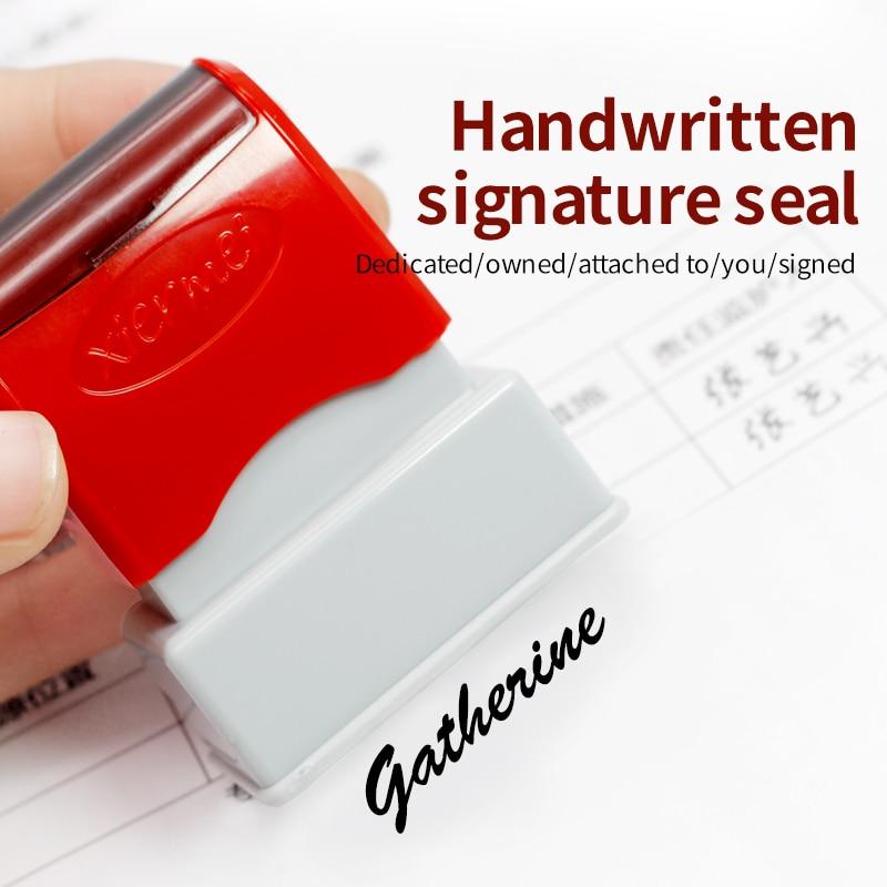Печать с именем учителя на заказ, печать с чернилами, подписью, каллиграфией, самостоятельная печать с буквами для школьников и детей