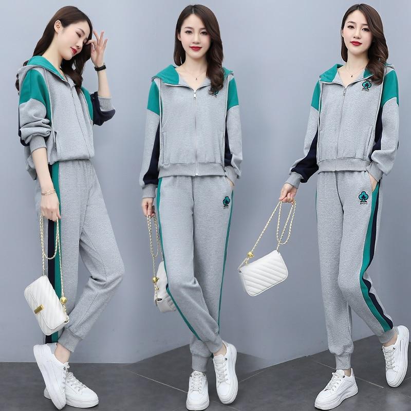 2021 herbst Mode Casual Multicolor Zwei-Stück Anzug Auf Lager