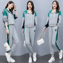 2021 Autumn Fashion Casual Multicolor Two-Piece Suit in Stock
