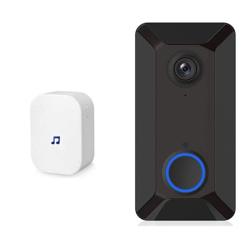 Wireless WiFi Video 720P HD Smart Doorbell with CMOS Sensor&Video Night Vision App Remote Control for IOS/Android