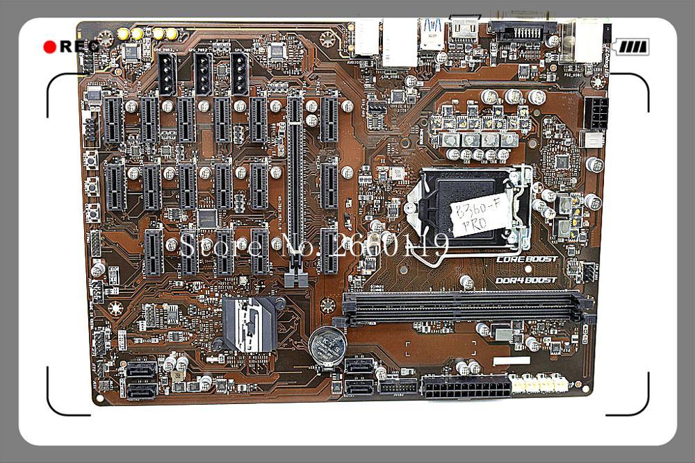 Placa-mãe de mesa de alta qualidade para B360-F pro b360 mainboard totalmente testado