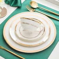 gold round plate set ceramic dinner plates brief nordic tableware dishes and plates sets dessert plate steak cake food dish set