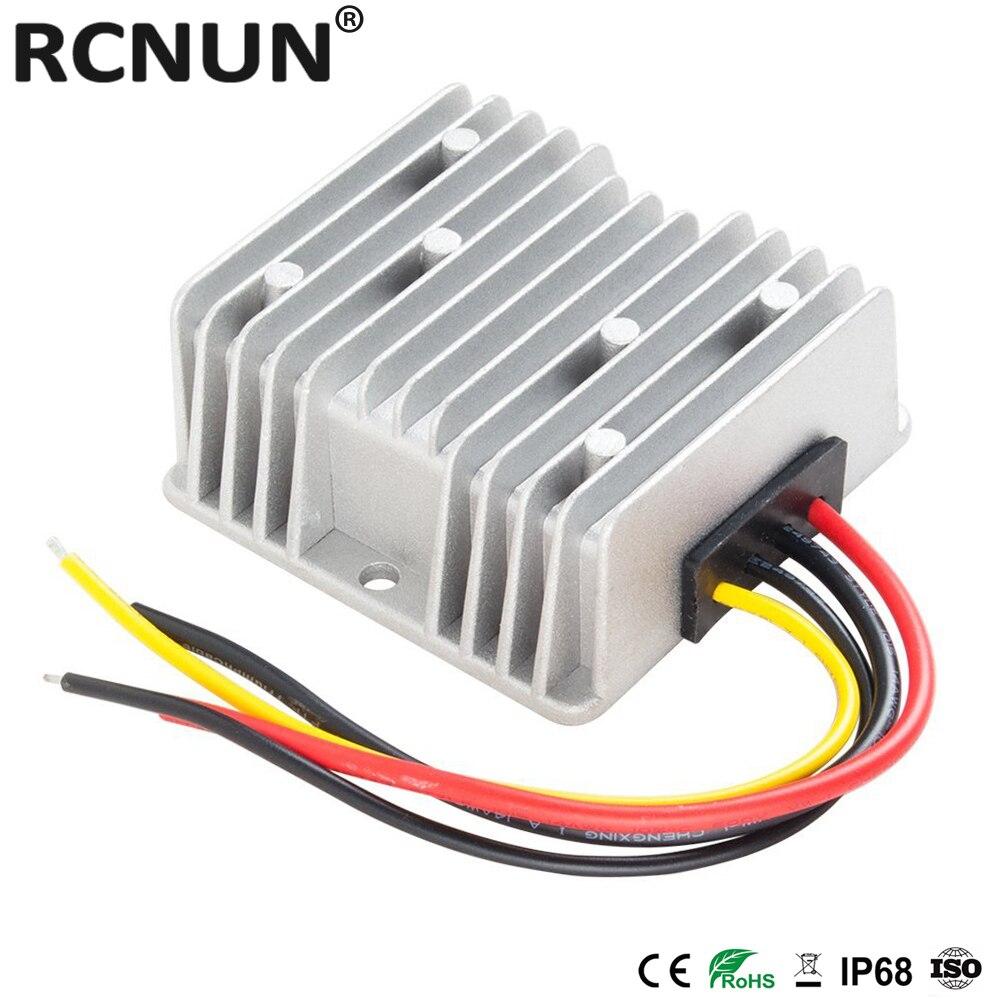 Convertidor RCNUN 60 V a 12 V 5A 10A 15A DC reductor 60 voltios a 12 voltios 180W fuente de alimentación Buck para coches de Golf