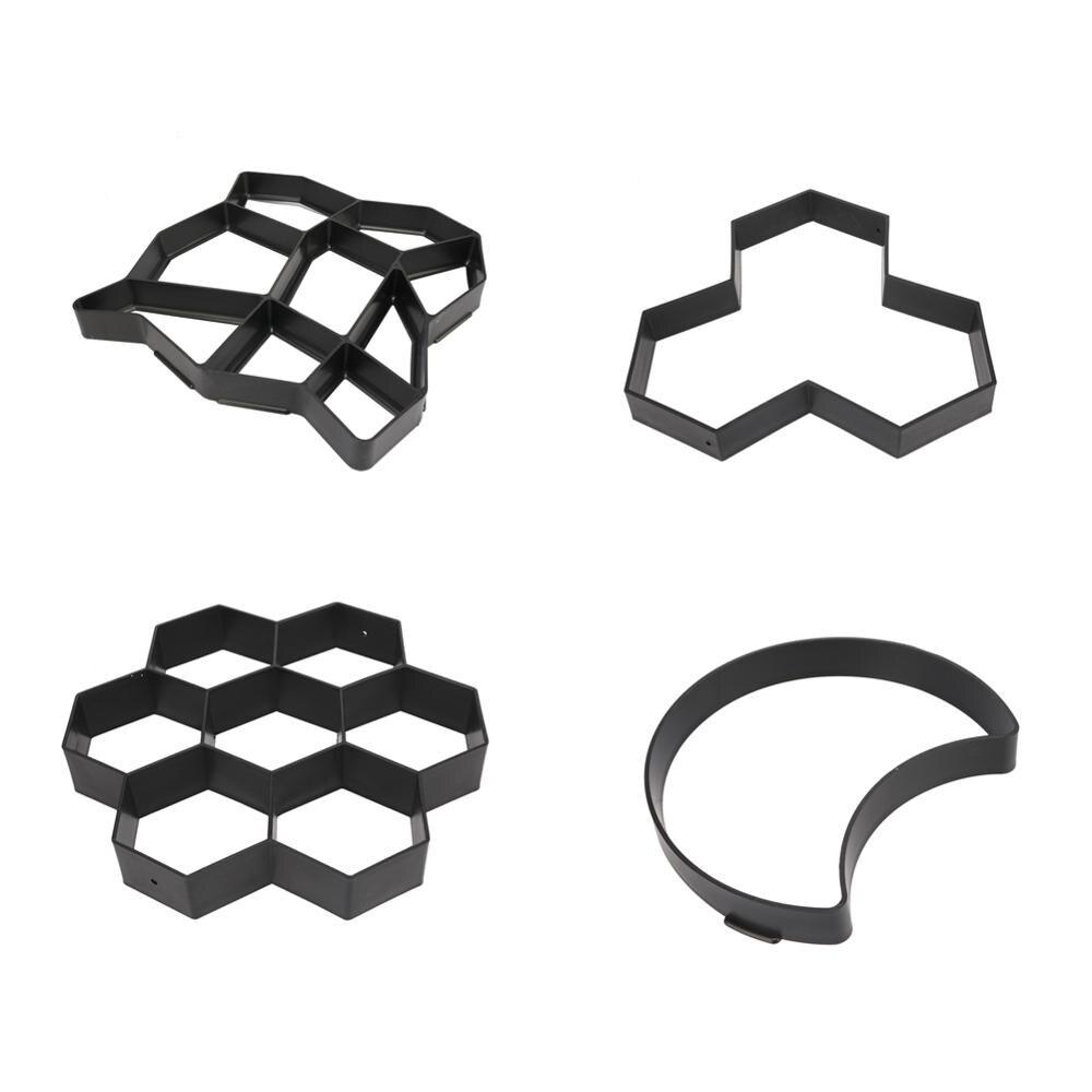 Pavimentación manual de ladrillos de cemento, moldes de hormigón, molde DIY de plástico para construir pavimentos, Camino de piedras de jardín, molde pavimentado, decoración de construcción de jardín