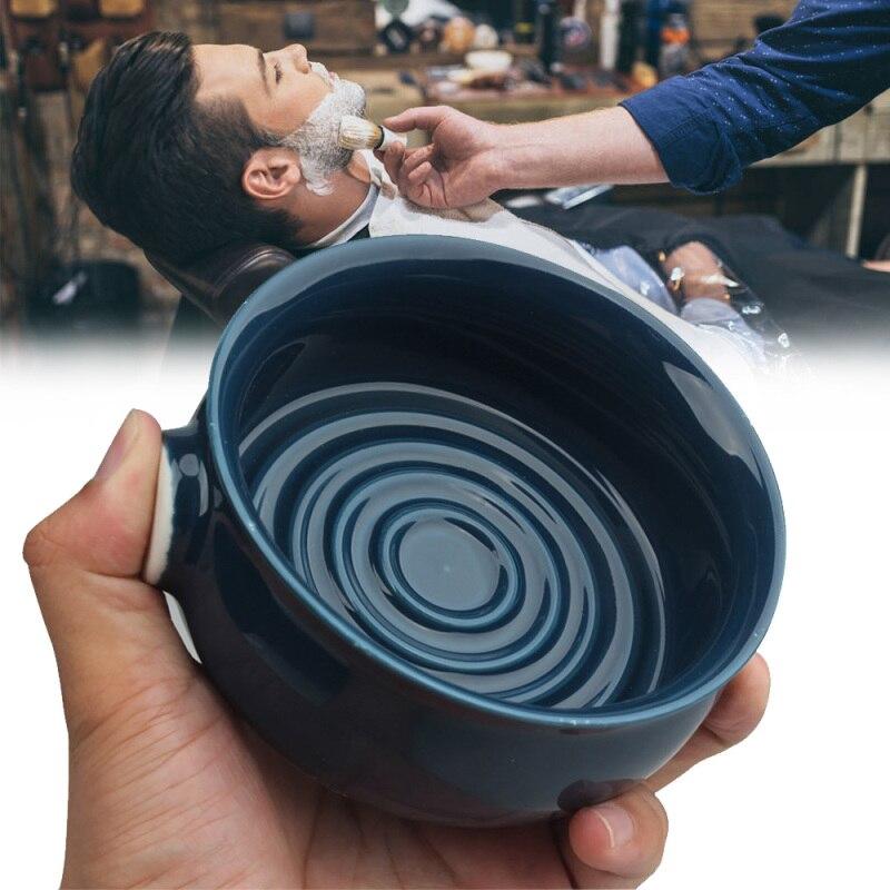 Bottled Beard Cream Foam Bowl Ceramic Shaving Foam Bowl Threaded Bottom Wide Mouth Man Wet Shaving Ceramic Soap Cream Cup