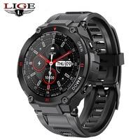 Смарт-часы LIGE мужские спортивные с bluetooth и будильником, 2021