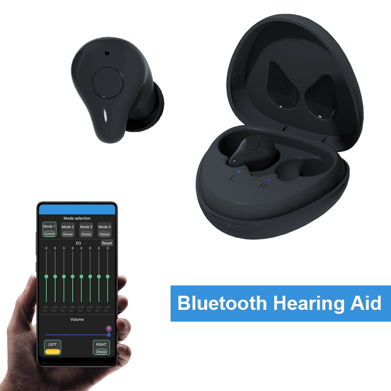 Mini Bluetooth Hearing Aids For Deafness With Digital Sound Amplifier Rechargeable Wireless Listening Device Ears First Aid Tool
