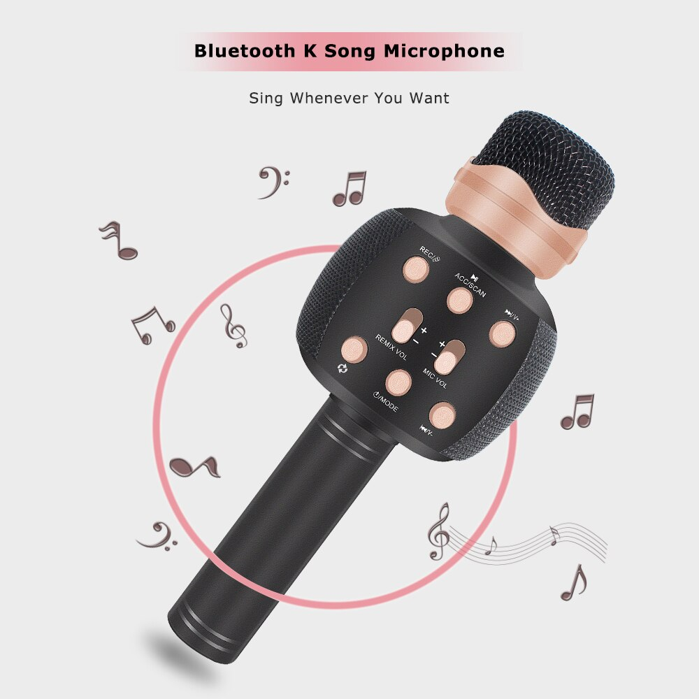 Karaoke Ws2911 Microphone Microfono Karaoke Speaker Mikrofon Pk Ws858 K Song Wireless Home Ktv Mic For Family Reunion enlarge