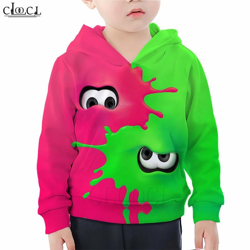 Niños juegos de Sudaderas Niño niña rosa verde pulpo impresión 3D familia equipada niños Hoodie chándal Casual Streetwear pulóveres M77