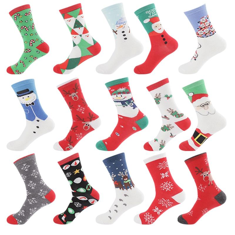 Fashion Lady Harajuku Soft Floor Home Clothing Accessories 1 pair Women Christmas Socks Warm Winter Cosy Lounge Bed Socks