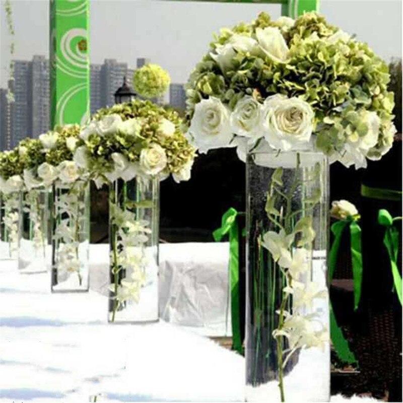 Vase à fleurs de Table pour mariage   Table sur pied, fleurs en acrylique/Vases de sol pour décoration de fête
