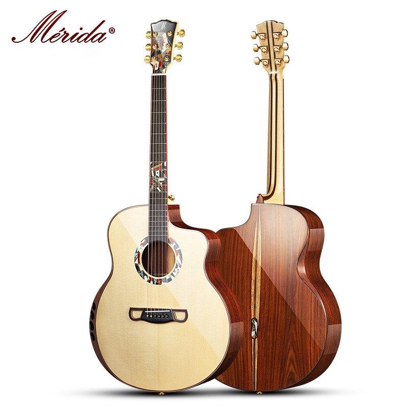 ميريدا السم 42 بوصة خشب متين كامل الغيتار الصوتية ، أعلى جودة الذراع بقية GJ قطع الطريق الغيتار الصوتية ، شحن مجاني