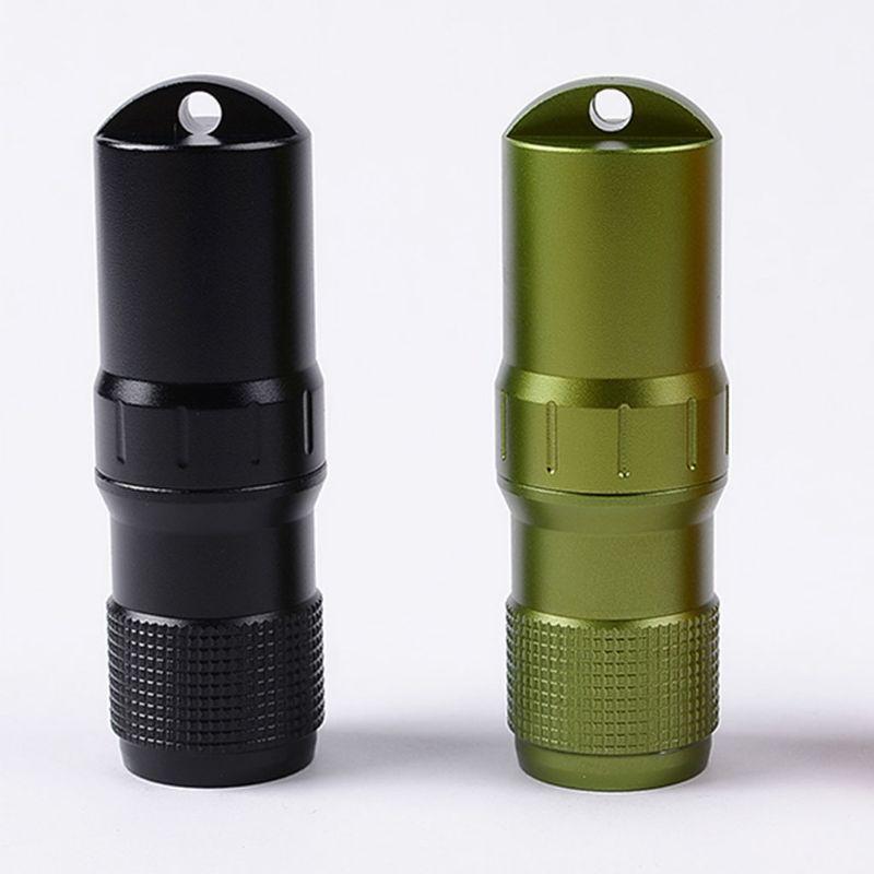 1 pc mini garrafa de cápsula à prova dmini água protable titular liga de alumínio multiuso recipiente à prova de umidade selado armazenamento do tubo de ensaio