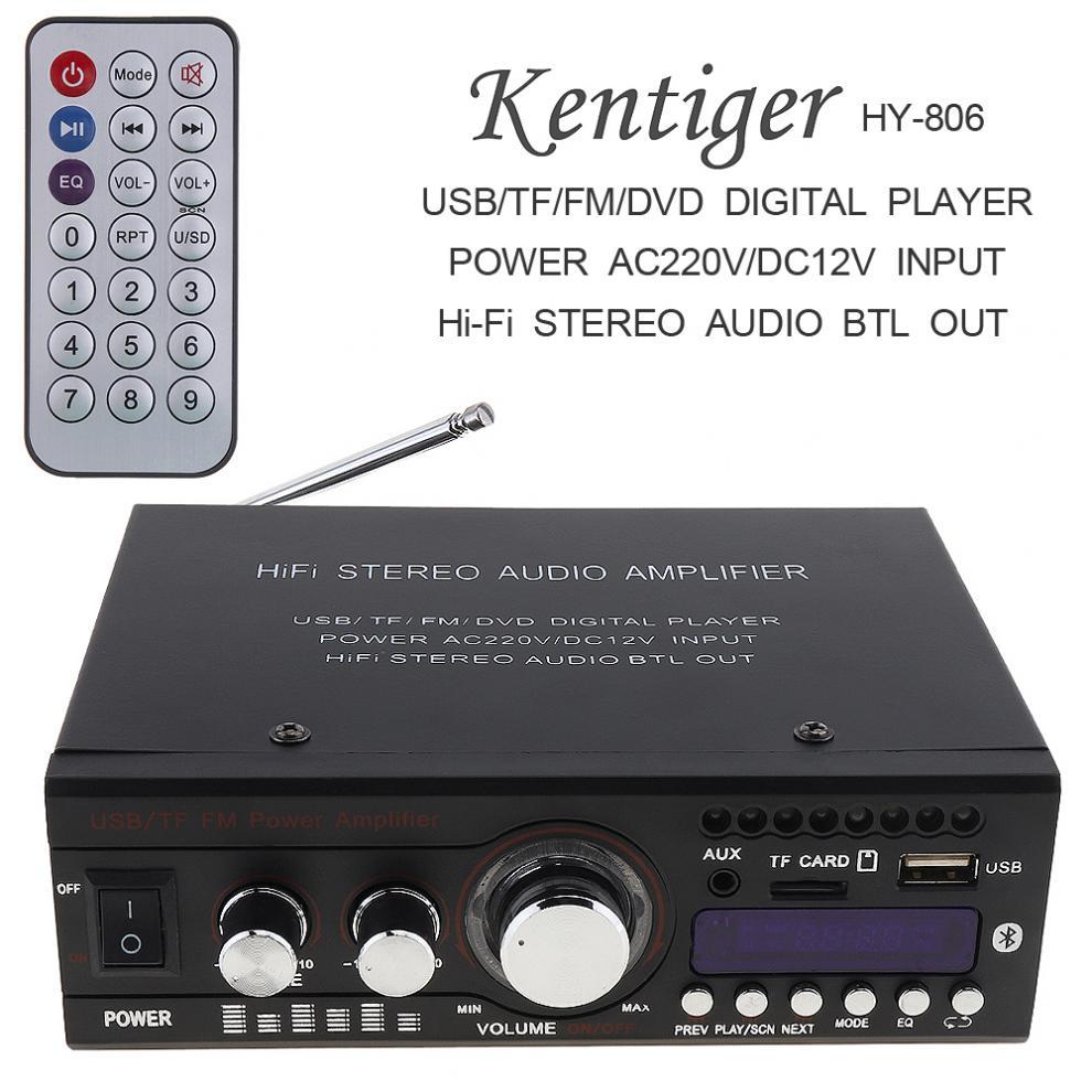 AMPLIFICADOR DE POTENCIA estéreo para coche DC12V AC 220V 110V, Bluetooth, 2...