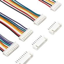 10 takım 2/3/4/5/6/7/8/9/10 Pin Pitch erkek dişi fiş soket JST XH2.54 XH 2.54mm 15cm tel uzunluğu 24AWG tel kablo konektörü