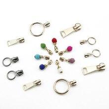 3#5#8#10# Metal Zipper Head Clothing Auto-locking Clothing Bags DIY Decorative Zipper Slider Repair Pendant Accessories