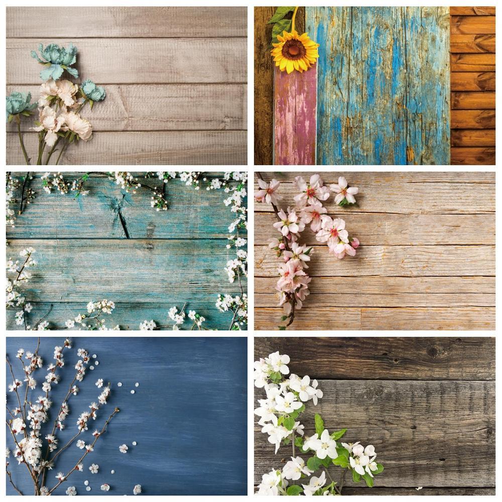 Laeacco Holz Kulissen Planken Bord Blume Textur Pet Puppe Porträt Fotografischen Hintergründe Photo Für Foto Studio