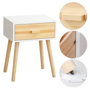 Nordic Minimalist Bedside Table With One Drawer Solid Wood Storage Cabinet Nightstands Small Apartment Bedroom Bedside Table HWC