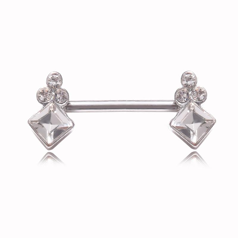 1 ud. Piercing de diamante de imitación para pezones, pezones sexi pinza para, Piercing corporal de acero inoxidable, accesorios para pezones, joyería para mujer