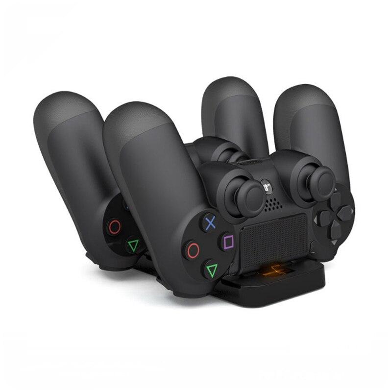 Estación de carga doble para Sony PS4 Playstation 4 mando de carga rápida para Gamepad PS4