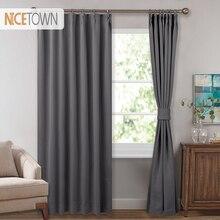 NICETOWN-rideaux occultants thermiques isolés   Décoration + ombrage pleine lumière, avec crochet réglable, pour salon et chambre à coucher