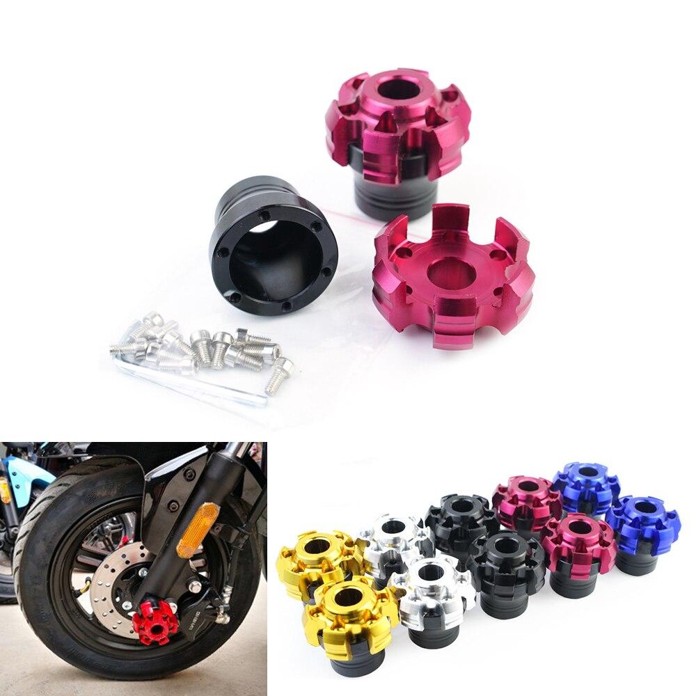 Deslizador de marco de protección contra caídas de rueda delantera de Moto, scooter Universal de aluminio para bicicleta de calle, moto para Honda Grom KAWASAKI Z125
