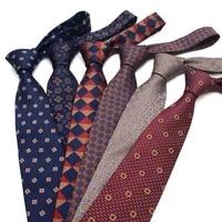 necktie for men business meeting gravatas mens formal 8cm fashion paisley grid dot floral tie gift for man