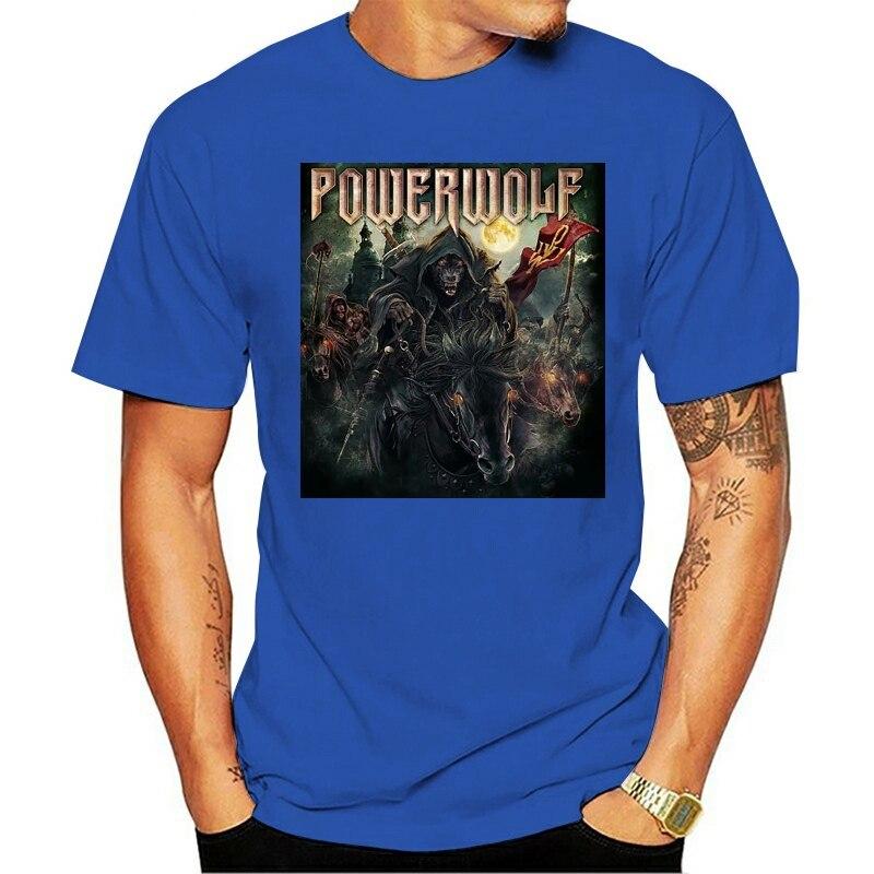 T camisa da noite Exército powerwolf amon amarth sabaton kreator helloween banda 2021 T-shirt da forma de lazer 100% algodão