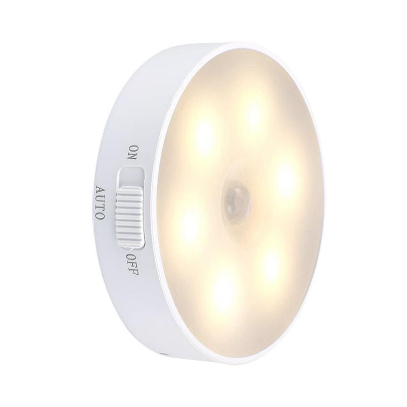 Rechargeable Night Light Intelligent Human Body Induction Lamp Led Wireless Usb Light Control Creative Bedside Lamp For Bedroom led smart light control human body induction night light creative led induction night light emergency light corridor lamp small table lamp