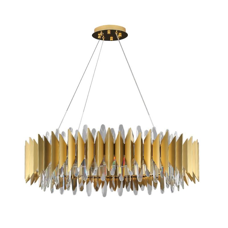 Manggic جديد الحديثة كريستال الثريا لغرفة المعيشة LED الإضاءة الثريات البلورية/ النجف الكريستالي الذهب الفاخرة تصميم الثريات