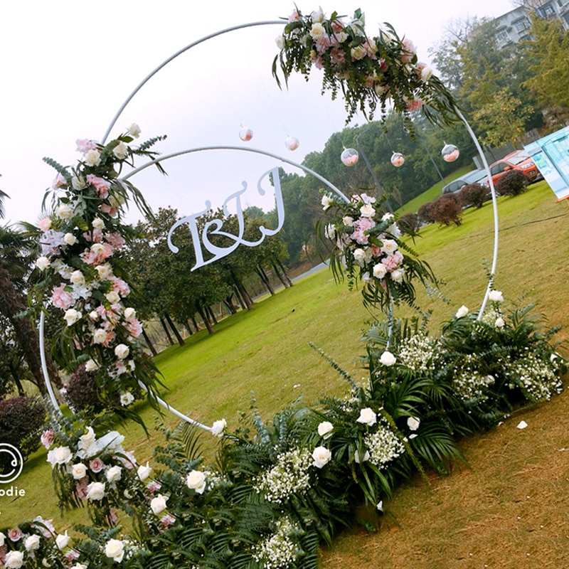 Iron Circle Wedding Arch Background Props Birthday Party Baby Shower Supplies Round Background Frame Flower Stand for Wedding