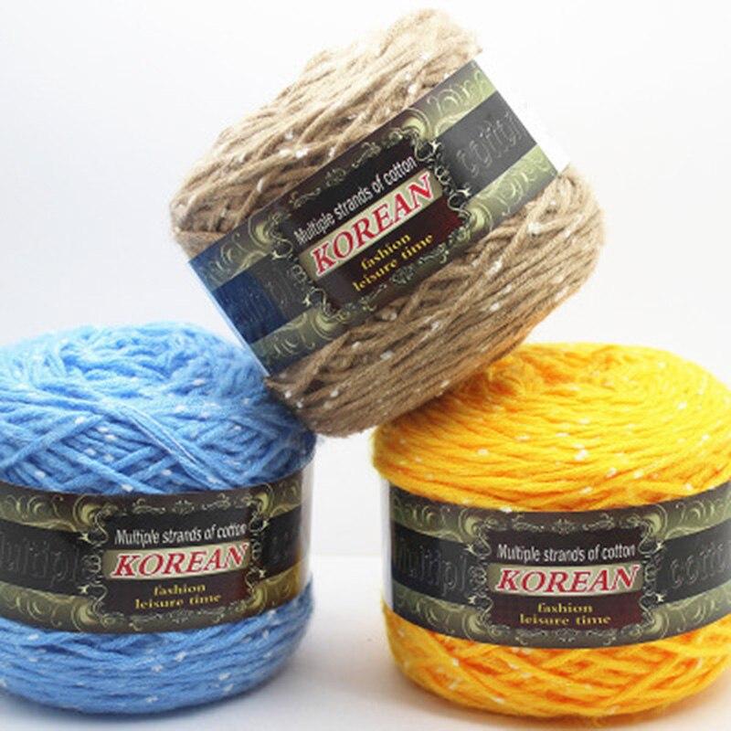 200g/rollo de hilo de algodón cómodo hilo de mezcla de lana ropa de coser hilo de tejer a mano bufanda sombrero hilo de tejer crochet