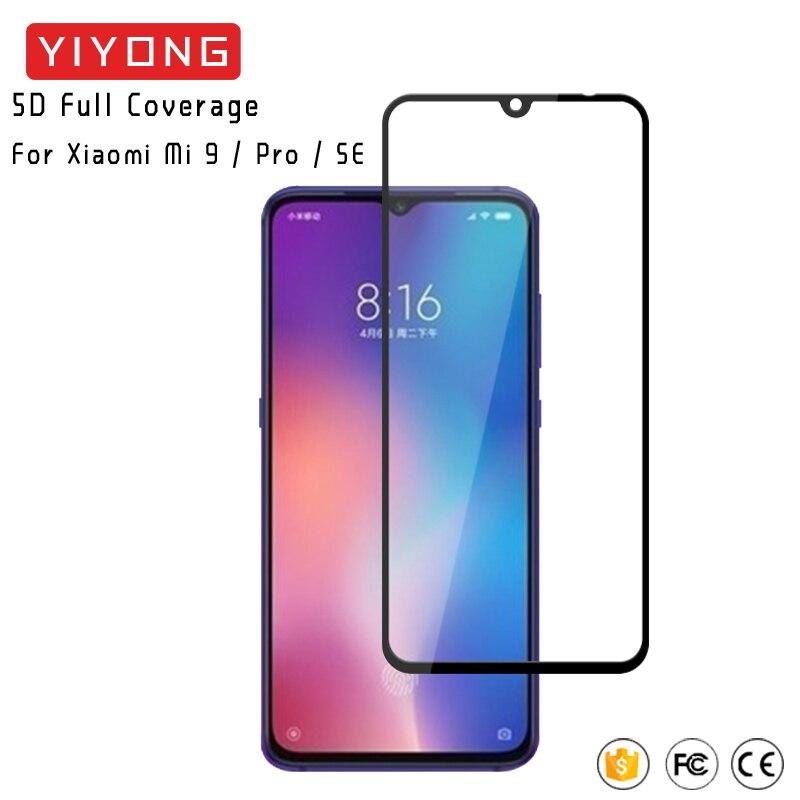 25Pcs/Lot YIYONG 9D Full Cover Glass Xiaomi Mi9 Mi 10 Lite Tempered Glass Xiomi Mi8 Screen Protector For Xiaomi Mi 9 9T 10T Pro