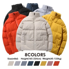 Winter All-match Heavy Jackets 2021 New Unisex Streetwear Loose Hip Hop Solid Loose Thicken Warm Pad