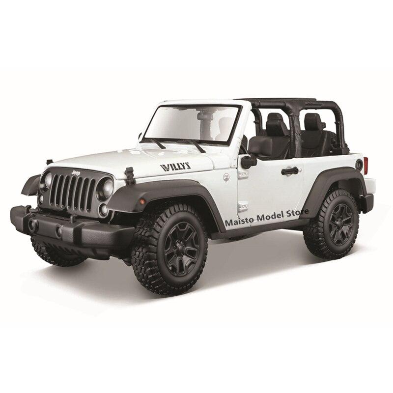 Maisto 1:18 2014 Jeep Wrangler (бескорпусный) Preminer edition высокодетализированная Точная Модель литья под давлением, Коллекционная модель автомобиля, подар...