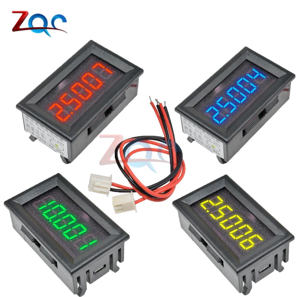 Светодиодный 5-разрядный цифровой вольтметр постоянного тока 0-33 в 12 В 24 В, Вольтметр напряжения, тестер, инструменты для автомобильной панел...