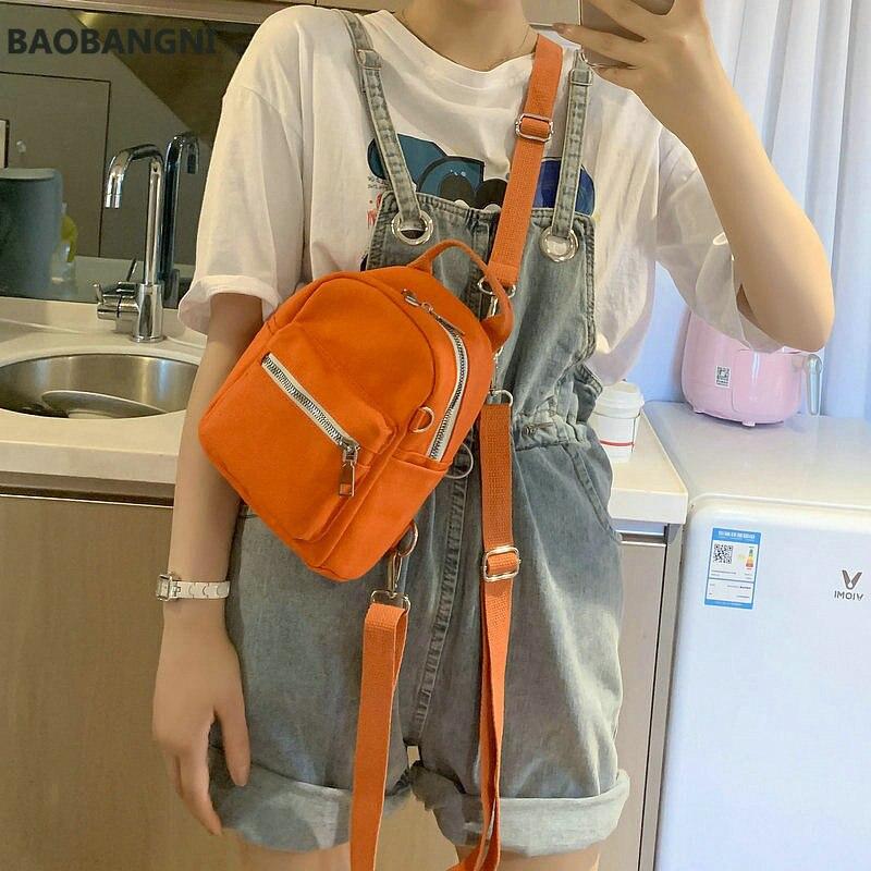 Модные маленькие мини-рюкзаки для женщин, парусиновые сумки через плечо карамельных цветов, женские забавные сумки, кошельки для телефона