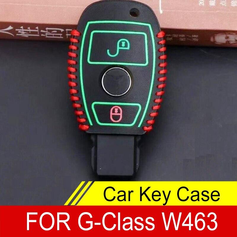 Кожаный чехол для автомобильного ключа чехол для G-Class W463 G65 G55 G63 G500 G550 G350 Benz аксессуары led drl daytime running light for benz w463 g500 g55 g class amg g63 g65 driving light