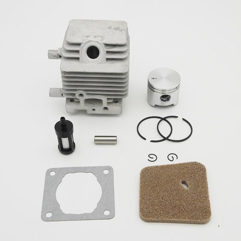 34MM Cylinder Piston Fuel Filter Gasket Kit For Stihl FS75 FS80 FS85 Trimmer Brush Cutter Spare Parts