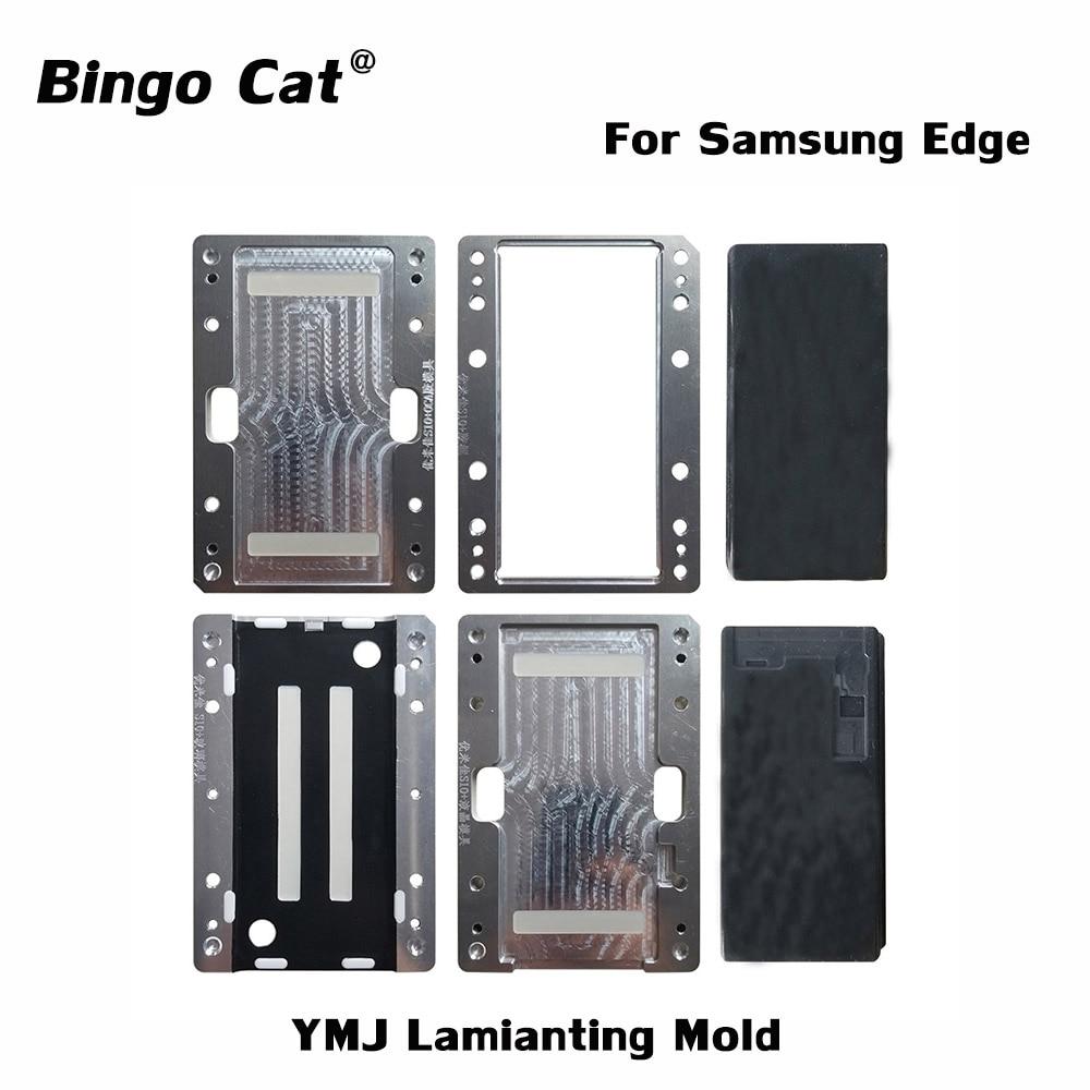 YMJ حافة قالب الترقق لسامسونج غالاكسي S20 S10 5G S10 9 8 Plus S21 الترا نوت 10 9 8 plus غير عازمة فليكس LCD زجاج OCA إصلاح