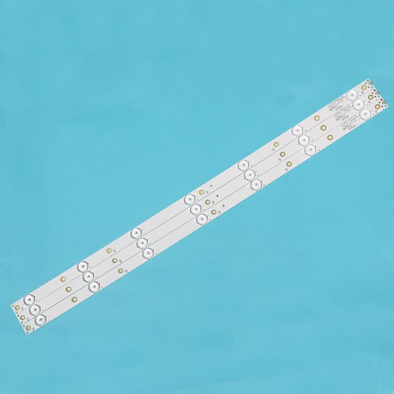"20 unids/lote tira de retroiluminación 32 ""7 lámpara 3V Longitud 62CM retroiluminación LED de fondo tira de propósito general sustrato de cobre"