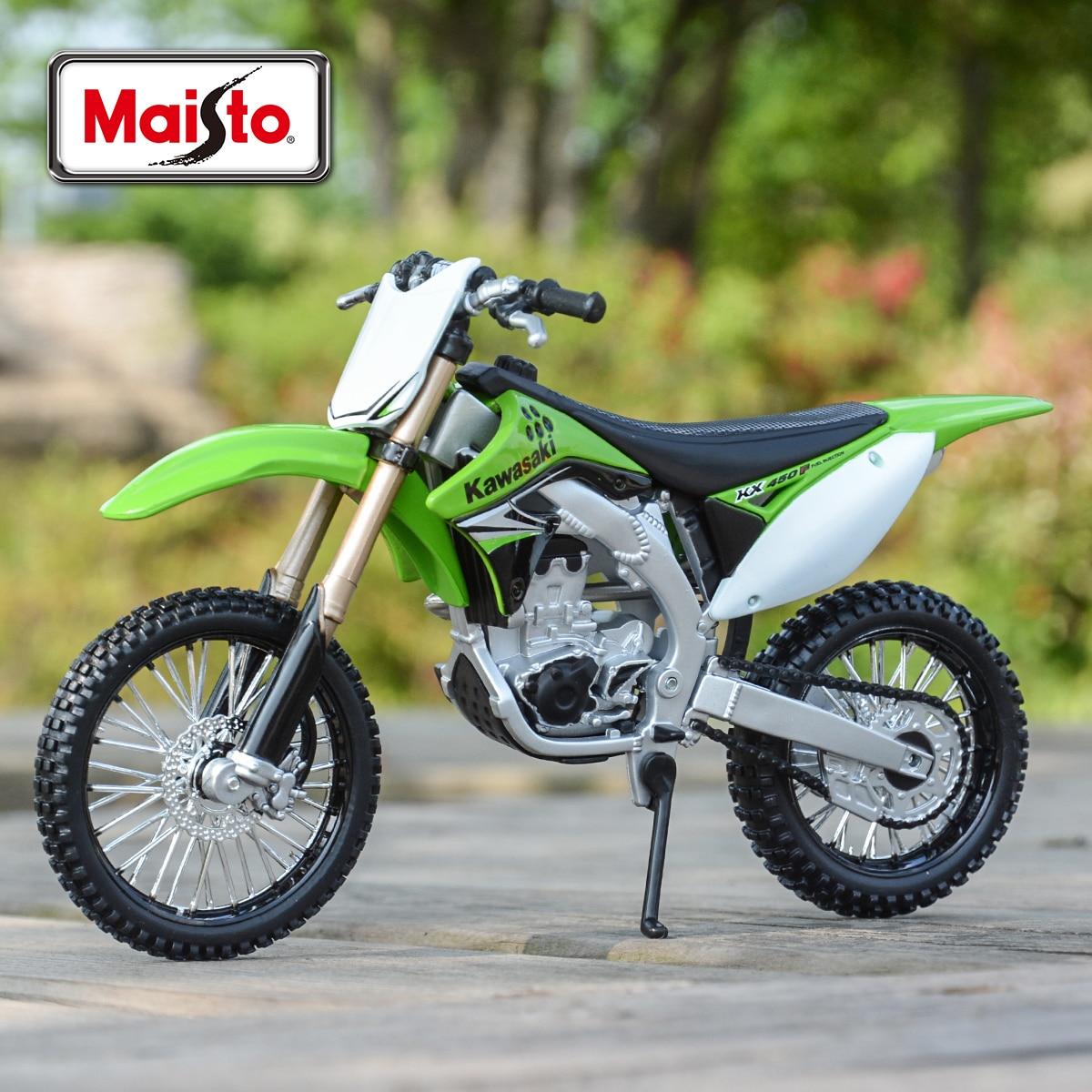 Maisto 1:12 Kawasaki KX 450F Green Die Cast Vehicles Collectible Hobbies Motorcycle Model Toys