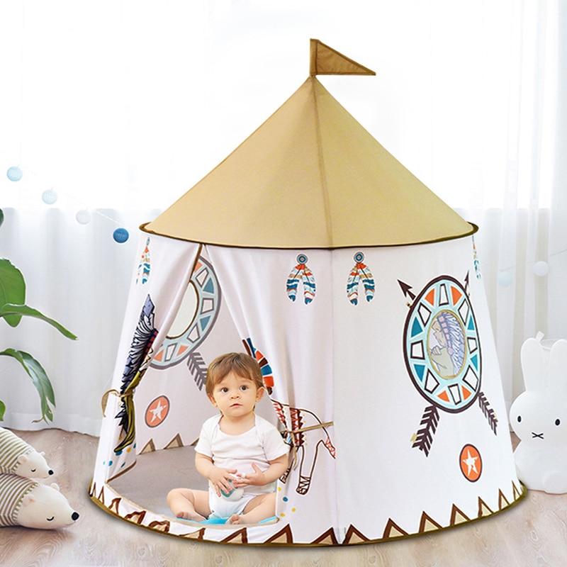 Детская игровая палатка принцесса замок палатка игрушки подарок, флаг, дети, прорезыватель, игра, палатка, подарок на день рождения и Рождес...