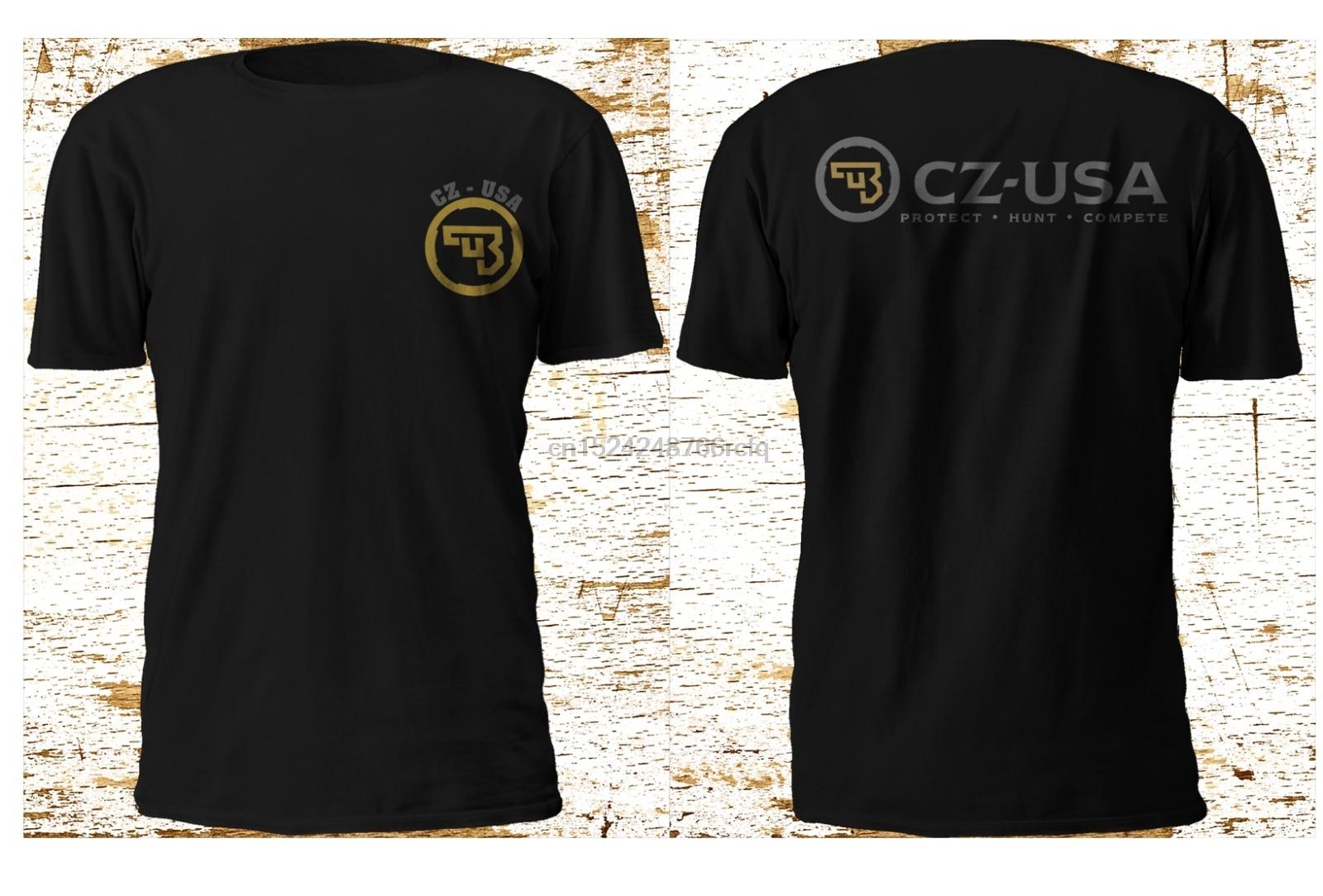Nueva Cz Usa Ceska Zbrojovka armas de fuego Logo negro camiseta S-3XL