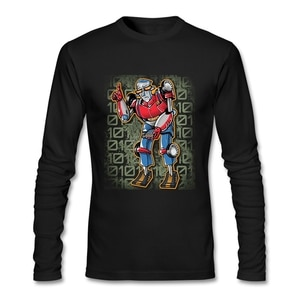 Street Style Fashion Geek Video Game Tee Shirt O-neck Cotton Long Sleeve Clothes Hip Hop Online T Shirts Custom Print Tops Tees