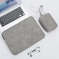 soft pu leather laptop bag sleeve 13 3 14 15 6 inch waterproof pouch for macbook air pro computer notebook case cover women men