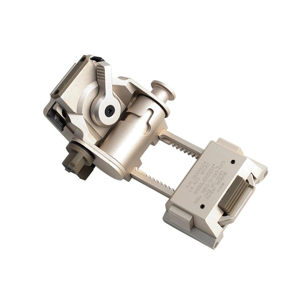 Metal L4 G24 szybki Adapter do montażu na kasku NVG adaptery do odrywania CNC do noktowizora Fast OPS Adapter do kasku kolor srebrny